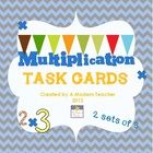 These multiplication question and task cards are perfect practice for 2nd and 3rd graders.  You can put the cards at a math station, have them avai...