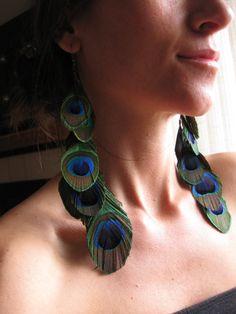 Feather earrings    www.facebook.com/loveswish