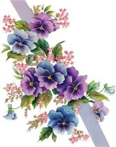 tubes victoriens fleurs
