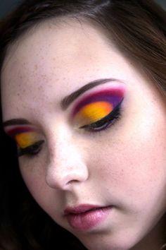 Colorful Cut-Crease
