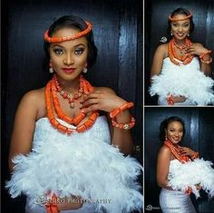 Igbo traditional wedding attire for the bride Traditional Wedding Attire, African Traditional Wedding, African Traditional Dresses, Traditional Gowns, Traditional Weddings, African Attire, African Dress, African Wear, African Women