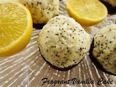 Raw Lemon Poppy Seed Coconut Macaroons - Fragrant Vanilla Cake