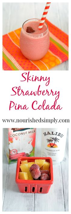 I love low calorie drink recipes in the summer. Skinny Pina Colada – rich in fla… I love low calorie drink recipes in the summer. Skinny Pina Colada – rich in flavor, but lower in calories! Beach Drinks, Summer Drinks, Fun Drinks, Beverages, Summer Snacks, Mixed Drinks, Fruit Smoothies, Healthy Smoothies, Healthy Drinks