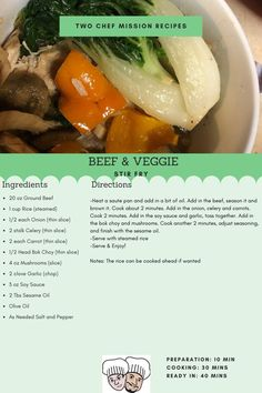 A simple but flavorful stir fry that can be done in a flash. Serving set for Want more recipes check out our website! Beef Stir Fry, Veggie Stir Fry, Stirfry Beef, Stir Fry Ingredients, Meals For Four, Serving Size, Ground Beef, Beef Recipes, Easy Meals