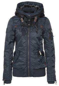 Ladies black warm jacket fashion