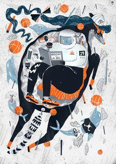 Ilustraciones de polaco diseñador gráfico e ilustrador Karol Banach
