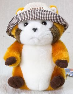 Rascal the Raccoon w/ HAT Hokkaido Limited Plush Doll Figure JAPAN ANIME MANGA