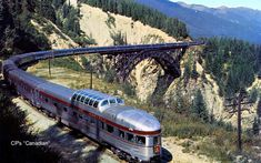 "CP's ""Canadian"" in the Canadian Rockies C. 1955"
