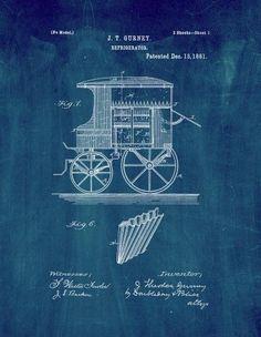 1961 fender guitar patent artwork blueprint poster by nikki marie refrigerator patent print art poster midnight black blue 85 x malvernweather Image collections