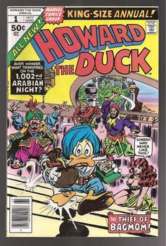 Howard the Duck King Size Annual 1 VFNM 1977 Bronze Age Marvel Comics Book…