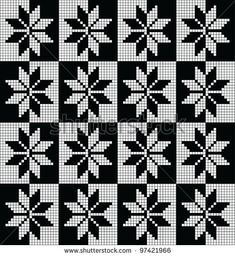 norwegian pattern - possibly for a bed throw?