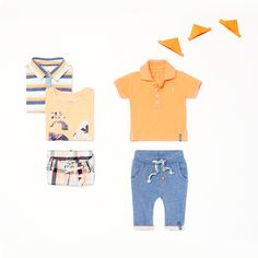 Complete the warm-weather wardrobe with these summer essentials  | Noppies baby spring/summer collection 2016 | #babywear #babyboy #boyswear #babypoloshirt #summeressentials #flatlay #babyset #noppies