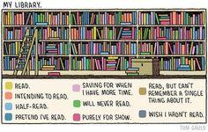 "Tom Gauld: ""My Library"""