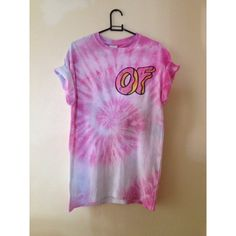 Odd Future O F Donut Tie Dye T Shirt S M L XL ($24) ❤ liked on Polyvore featuring tops, t-shirts, shirts, tye die shirts, purple shirt, tie dye shirts, tee-shirt and t shirt