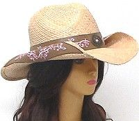 a8bd34452b1 Cowgirl hats bring together country and class with these raffia straw western  hats that roll up