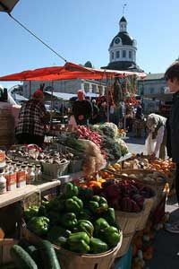 The Farmer's market in Kingston, Ontario, is one of the longest running markets in Canada!