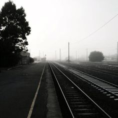 Foggy morning at Warragul Train Station