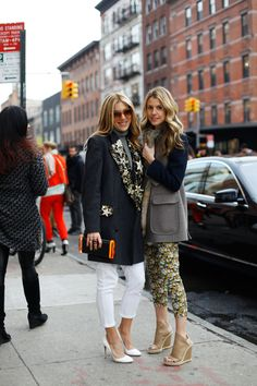 Fashionable friends: Dani Stahl and Eleanor Ylvisaker