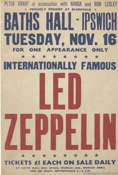 Hats Off to Led Zeppelin Led Zeppelin Tour, Led Zeppelin Poster, Led Zeppelin Concert, Tour Posters, Band Posters, Music Posters, Event Posters, Robert Plant, Jimmy Page