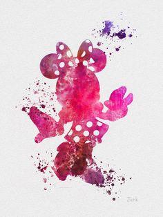 Minnie Mouse ART PRINT 10 x 8 illustration Disney by SubjectArt, $12.99