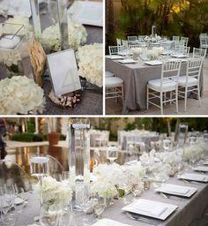 Beach chic wedding tablescape