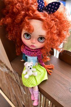 Hazel  Excited to share the latest addition to my #etsy shop: OOAK Blythe doll,Hazel custom art blythe doll by janasOOAKblytheDolls, dolls,ginger hair http://etsy.me/2Hmmi9b