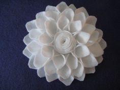White Dahlia Felt Flower