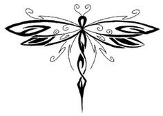 tribal dragonfly.. mixed with the tribal cross i want? hmm. this could be a cute mix for my tattoo