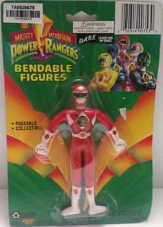 (TAS020679) - Mighty Morphin Power Rangers - Red Bendable Figure Jason