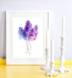 Lilac! by Matilda Svensson #nordicdesigncollective #poster #print #lilac #syren #flower #spring #purple #color #watercolor #frame #interiordesign #design #home #homedecor #decor #candle #candleholder #candlelight #blue #floral #matildasvensson