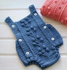 Currant Romper (crochet, recipe) pattern by Marina Ayueva - Ravelry: Currant Romper (crochet) pattern by Marina Ayueva - Crochet Romper, Crochet Baby Clothes, Baby Girl Crochet, Crochet For Boys, Knit Crochet, Baby Knitting Patterns, Baby Patterns, Crochet Patterns, Baby Romper Pattern Free