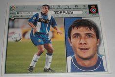 CROMO DE FUTBOL MORALES ESPAÑOL ESPANYOL(SIN PEGAR)LIGA LFP ESTE 2001-2002/01-02