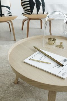 The Muuto Around Table, beautifully styled by Susanna Vento for the Sato Apartments in Finland Design Chaser Nordic Interior Design, Interior Decorating, Living Room Inspiration, Home Decor Inspiration, Daily Inspiration, Scandinavian Living, Round Coffee Table, Minimalist Decor, Furniture Design