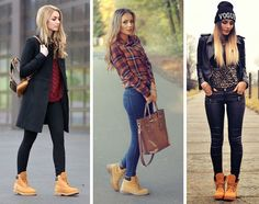 timberland mujer look - Buscar con Google