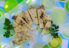 CYKORIA - pieczona pietruszka Asparagus, Vegetables, Food, Meal, Essen, Vegetable Recipes, Hoods, Meals, Eten