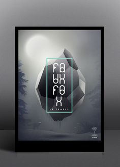 A graphic artwork by Tobias van Schneider in collaboration with Verena Michelitsch for Faux Fox Temple. I especially like the combination of the digital artwork and the modern geometric typography in the front.