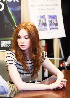 Karen gillan...I start to think that I have hair like hers, in a different colour.