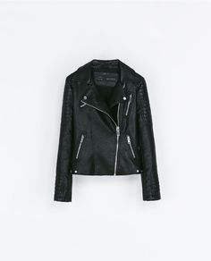 MOTORCYCLE JACKET WITH ZIPS from Zara (I think it's long enough and nips enough at the waist to suit me)