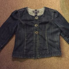 *L Denim cardigan/overcoat * Worn once L denim button up top. Darling and goes w just about anything! :) Tops