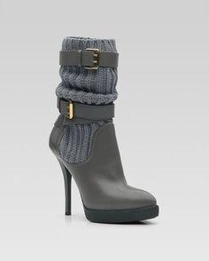 Gucci Lockhart Buckle Ankel Boots