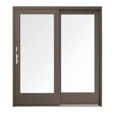 400 Series French Wood Gliding Right Hand 6068 Pine Interior Patio Door  Low E4 Smartsun With Screen