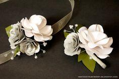 DIY Paper Flower Corsages flower corsag, paper flowers, diy paper