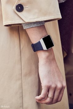 Complete your look with full-grain Horween leather bands for Fitbit Ionic. The natural materials mold to your wrist and develops an aged patina finish over time for style that's smart and timeless. Available in Cognac and Midnight Blue.