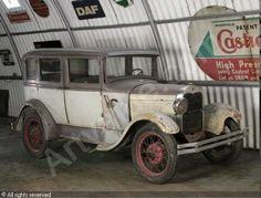 Pre- restoration 1929 Ford Model A Fordor