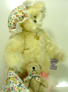 Dolls & Bears Annette Funicello Pink Bear With White Bow On Head To Suit The PeopleS Convenience