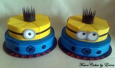 Minion Inspired Favor Box Cake Price is for One by FavorCakes Minion Birthday, Boy Birthday Parties, Diy Birthday, Despicable Me Party, Minion Party, Cake Slice Boxes, Box Cake, Bolo Fack, Fiesta Cake