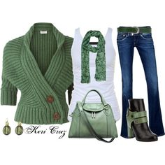 """Great in Green"" by keri-cruz on Polyvore"