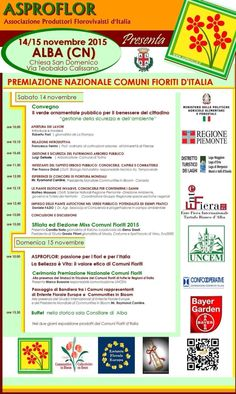 Programma premiazione nazionale Comuni Fioriti 2015 Alba (CN) 14/15 Novembre