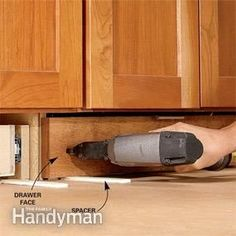Toe-Kick Drawers - How to Build Under-Cabinet Drawers & Increase Kitchen Storage