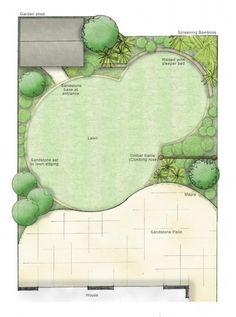 Small garden design Owen Chubb Garden Landscapes we design, we build Landscape Design Plans, Garden Design Plans, Modern Garden Design, House Landscape, Modern Design, Circular Garden Design, Circular Lawn, Ideas Terraza, Garden Care